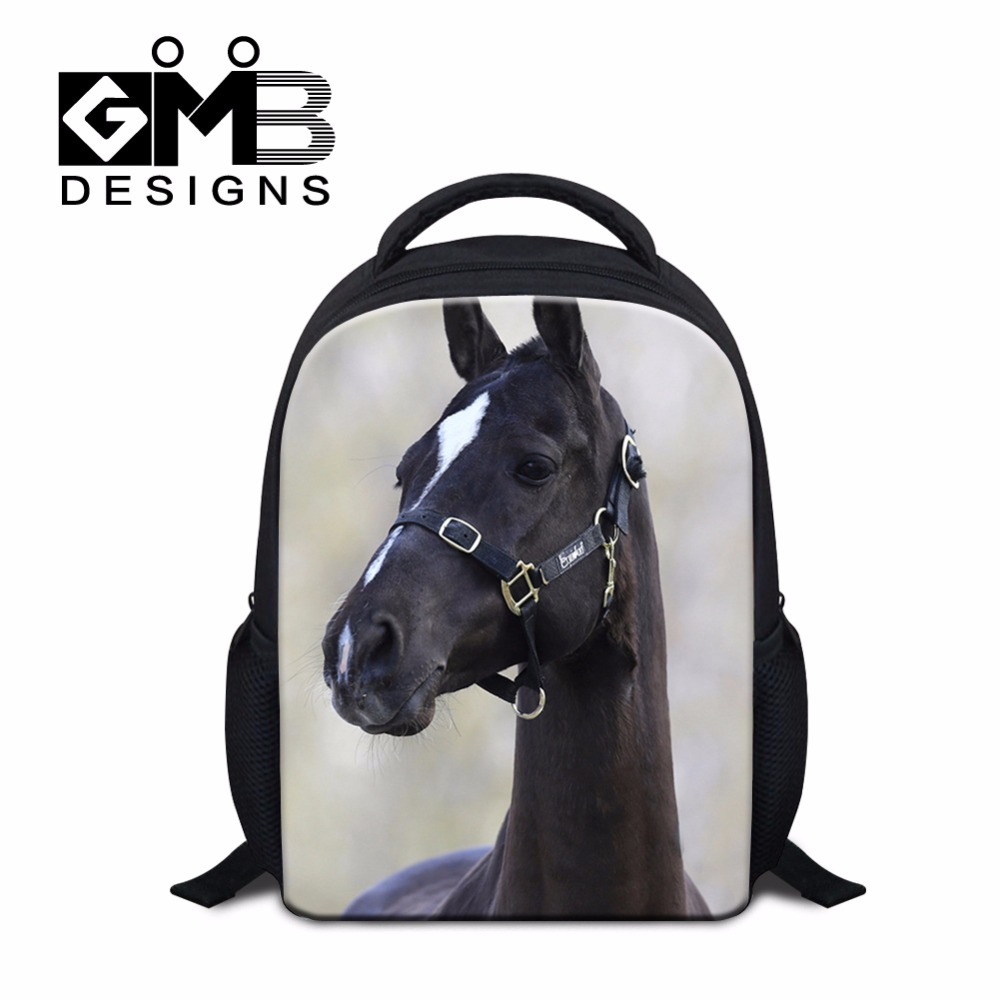 d12f75ee429e small personalized backpacks for Kids Animal 3D Printed School bags for  Little Boys Horse Bookbags Girls