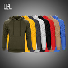 Kleurrijke Hoodies Sweatshirts Mannen Streetwear Dikke Warme Casual Kleding Winter Heren Hip Hop Solid Fleece Man Hoody Eu/Us size(China)