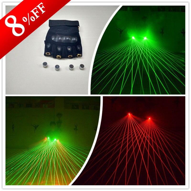 Nouveaux gants Laser de conception avec des Lasers rouges verts pour le spectacle de danse