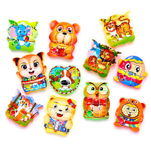 Toys Jigsaw-Puzzle Educational-Toys Numbers Gift Game-Style Animals Children's New Cute