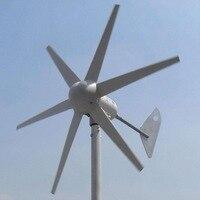 Vender Generador de viento 1 m/s velocidad de arranque del viento 400W turbina aerogeneradora trifásica 6 cuchillas 12V 24V AC turbina de viento CE & RoHS aprobado