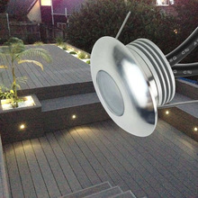 LED Stair Light Recessed Wall Sconce Lamp 1W CREE 12V IP67 Waterproof Outdoor Step Deck Floor Staircase Lighting Kit