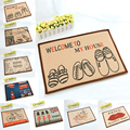 Cotton and linen  printed carpet cartoon memory cotton Home Bedroom Rugs living room mats doormat absorbent non-slip foot pad