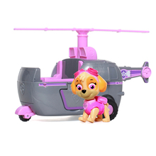 Paw Patrol dog Skye High Flyin Copter works with Patroll Puppy Dog Car Action Figure Patrulla Canina Toys Kids gift
