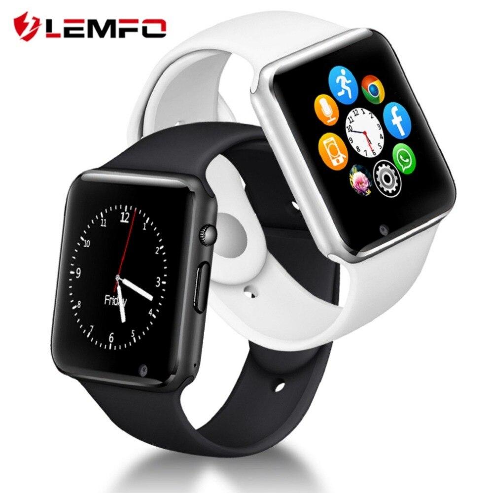 LEMFO Smartwatch Bluetooth Impermeabile Sport Pedometro Con SIM Smart Camera Della Vigilanza Degli Uomini 2018 Orologi Da Polso Russia T15 PK DZ09