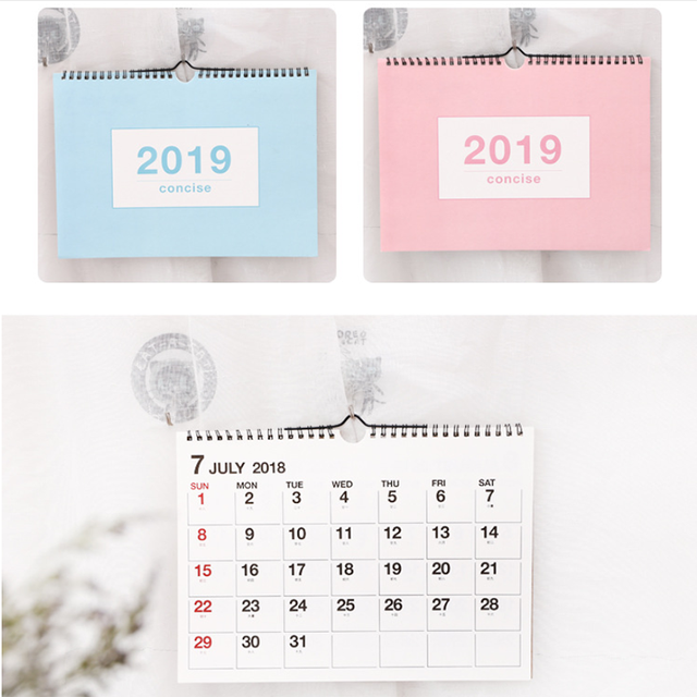 image regarding Cute Weekly Planners named US $4.13 28% OFF2019 Adorable Wall Calendar Weekly Planner Month-to-month Timetable Organizer Table Calendar Timetable Desk Calendar Planner Stationary-inside Calendar