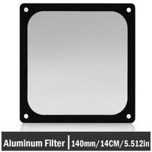5Pcs Gdstime 140mm Fan Dustproof Filter Computer Case Mesh PC Dust Cover Black 14cm