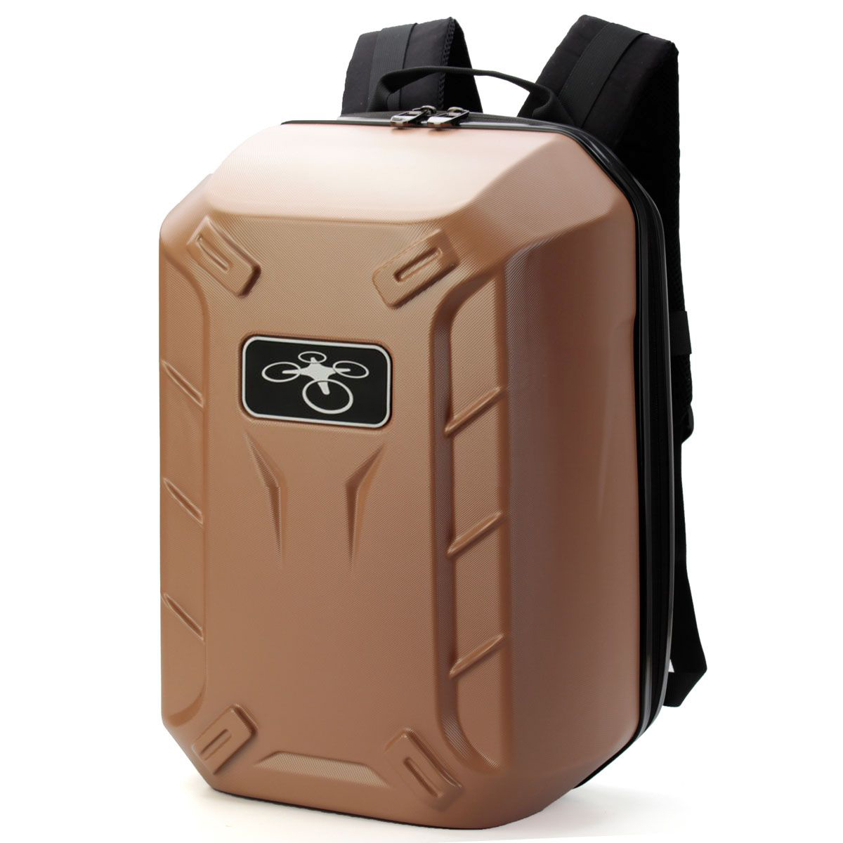 Traveling Waterproof Backpack Shoulder Bag Hard Shell Case For DJI Phantom 3Color:yellow Golden vsen traveling waterproof backpack shoulder bag hard shell case for dji phantom 3color army green