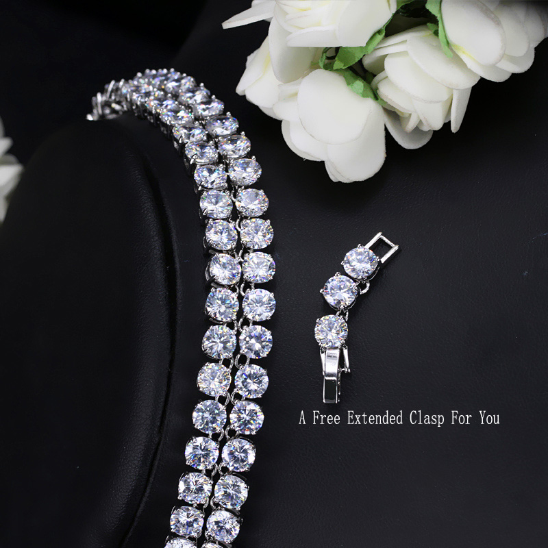 Image 4 - CWWZircons Luxury Sparkling 0.6 CM Big Carat Cubic Zirconia Crystal Round Choker Necklaces For Women Jewelry Party  CP044chokers necklaces for womenchoker necklacenecklaces for women -