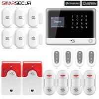 Smarsecur домашняя охранная сигнализация wifi Беспроводная SIM домашняя RFID охранное устройство сигнализации с клавиатурой система