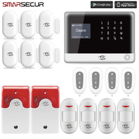 Smarsecur home security alarm WIFI Wireless SIM Home RFID Burglar Keyboard Alarm System
