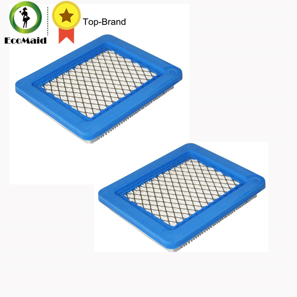 2pcs Air Filter Replacement for Briggs & Stratton 491588 491588S 4915885 399959 Filter  Lawn Mower Accessory air filter cleaner pre filter for briggs stratton 792105 john deere miu11515 gy21057 replacement lawn mower parts 5 packs