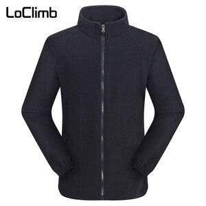 Image 4 - LoClimb Chaqueta Polar de invierno para hombre, abrigo para turismo, montaña, escalada, esquí, senderismo, AM132