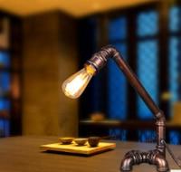 วินเทจสร้างสรรค์โคมไฟท่อน้ำE27