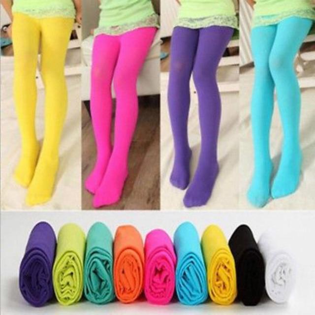 4da50cbb0be16 Children's Girl Candy-colored pantyhose Girls Kids Tights Candy Color  Pantyhose Stockings Soft Velvet Ballet