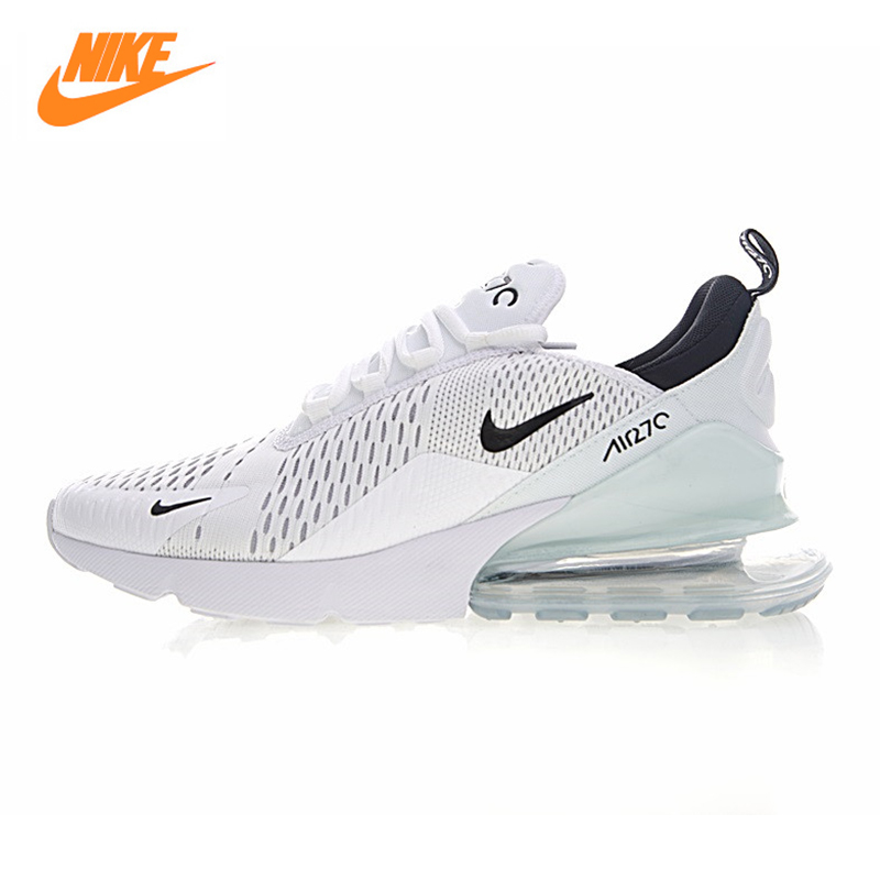 Nike Air Max 270 Men's Running Shoes,Outdoor Sneakers Shoes,White & Light Blue, Breathable Wear-resistant Lightweight AH8050 100