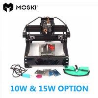 Moski, как 5 Лазерные Варианты, 15 Вт лазер/10 Вт лазер, по металлу, 15000 МВт DIY лазерная маркировочная машина, дерево маршрутизатор подключения USB