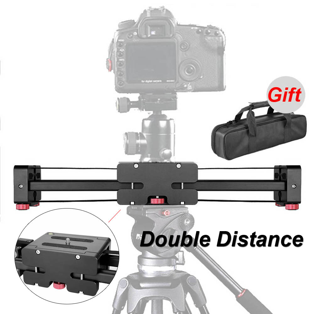 New Professional Adjustable DSLR Camera Video Slider Track 50cm Double Distance For Canon Nikon Sony Camera DV Dolly Stabilizer-in Rail Systems from Consumer Electronics    1