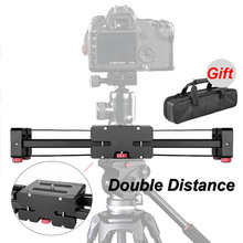 цена на New Professional Adjustable DSLR Camera Video Slider Track 520mm Double Distance For Canon Nikon Sony Camera DV Dolly Stablizer