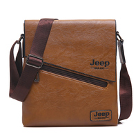 New Style High Quality Handcrafted PU Leather Men Messenger Bag Famous Brand Male Shoulder Bag