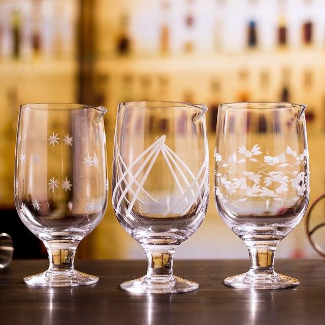 Darmowa wysyłka japoński wzór 750ml Stemmed mieszanie szkła do narzędzia barman koktajl