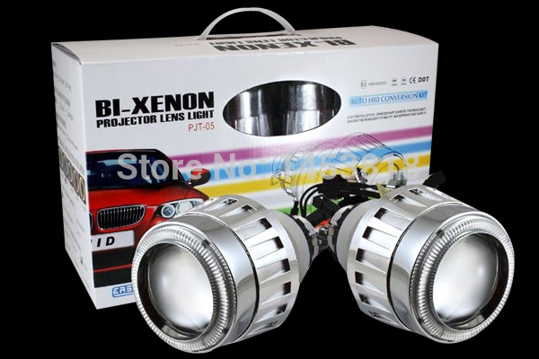 Original G5 2.5 inch Auto 9004 9005 9006 9007 H1 H4 H7 Hid bixenon lens projector headlight + 2pcs 35w AC Slim Ballast Blocks 2 5 inch h1 h7 9005 9006 bixenon projector lens for motorcycle auto headlight with ccfl angel eyes bule yellow red white purple