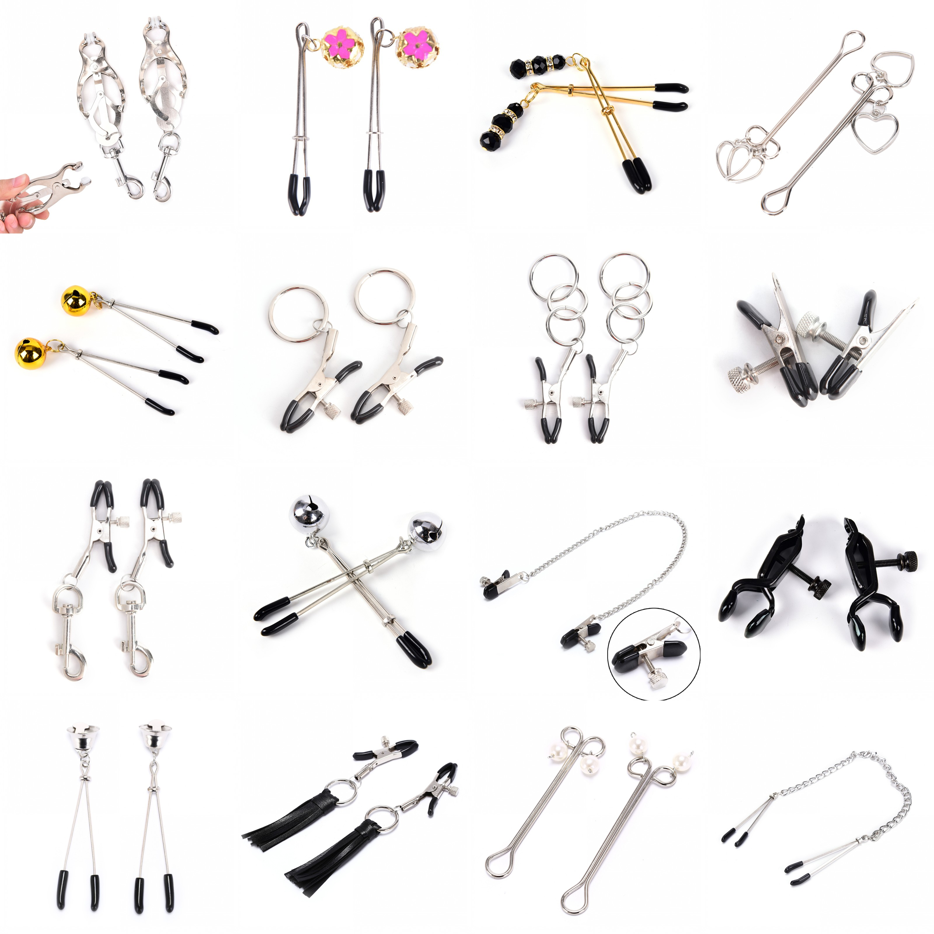 1/2PCS Metal Nipple Clip,Breast Clamp Nipple Clamp,Breast Clip,Female Breast Clip Clitoris Clips Exotic Accessories