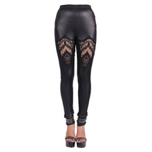 Devil Fashion Gothic Black Long Stretchy Summer Pants Women 2016 Steampunk Soft High Waist Pant Elastic Waist Female Trousers