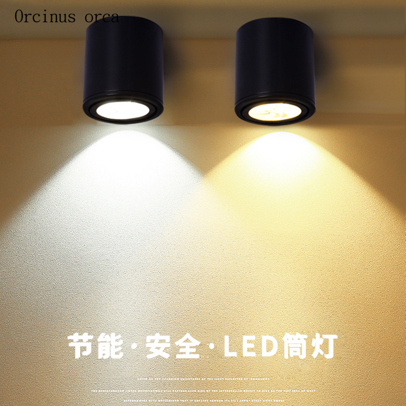 Modern simple cylinder LED ceiling lamp living room background wall corridor lighting creative personality iron art ceiling lamp|Ceiling Lights| |  -