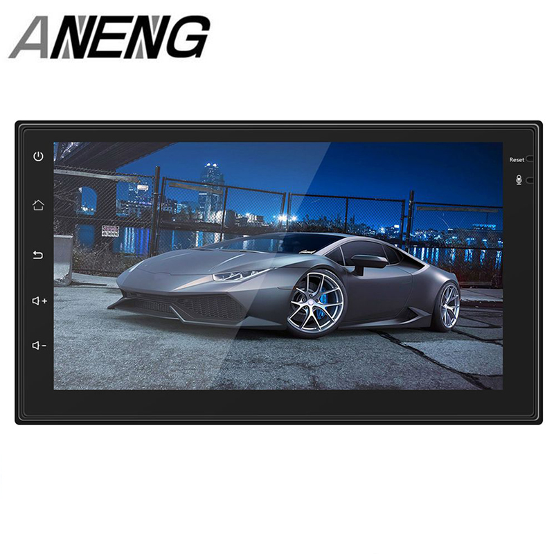 Android Car Radio mp4 mp5 player bluetooth wi-fi Navigation GPS 1G 16G touch screen 4 core 7 inch 2 DIN stereo audio (4 led ca
