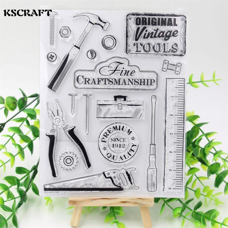 KSCRAFT Tools Transparent Clear Silicone Stamp/Seal for DIY scrapbooking/photo album Decorative clear stamp sheets kscraft love travelling transparent clear silicone stamp seal for diy scrapbooking photo album decorative clear stamp sheets