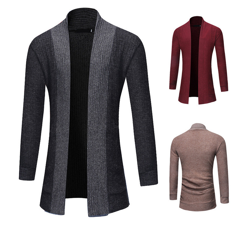MRMT 2019 Brand Men's Sweater Jackets Solid Color Cardigan Long-sleeved Medium And Long Section For Male Outer Wear Garment