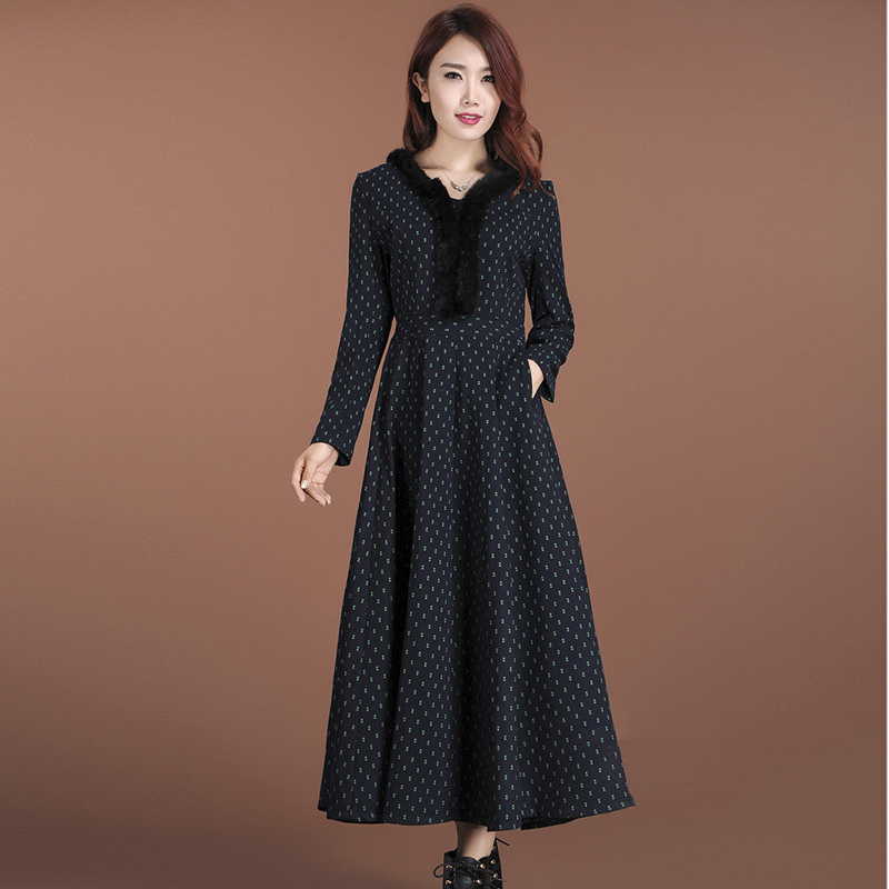 Wool dresses plus size
