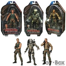 NECA Film 25e Predator Alien Hunter Jungle Patrouille Néerlandais D'extraction Néerlandais Jungle Hunter 18 cm 3 * Style Jouet PVC Figure Modèle Cadeau