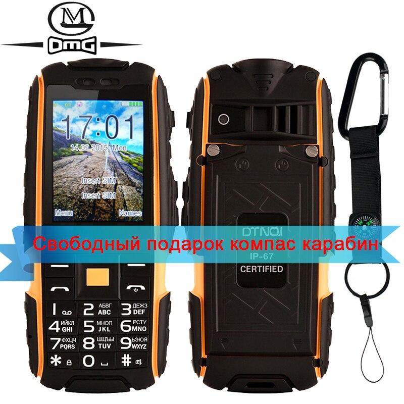 Originale DTNO. I A9 tastiera Russa IP67 Impermeabile telefono shockproof 4800 mAh batteria Dual SIM del telefono mobile FM flashligh telefoni