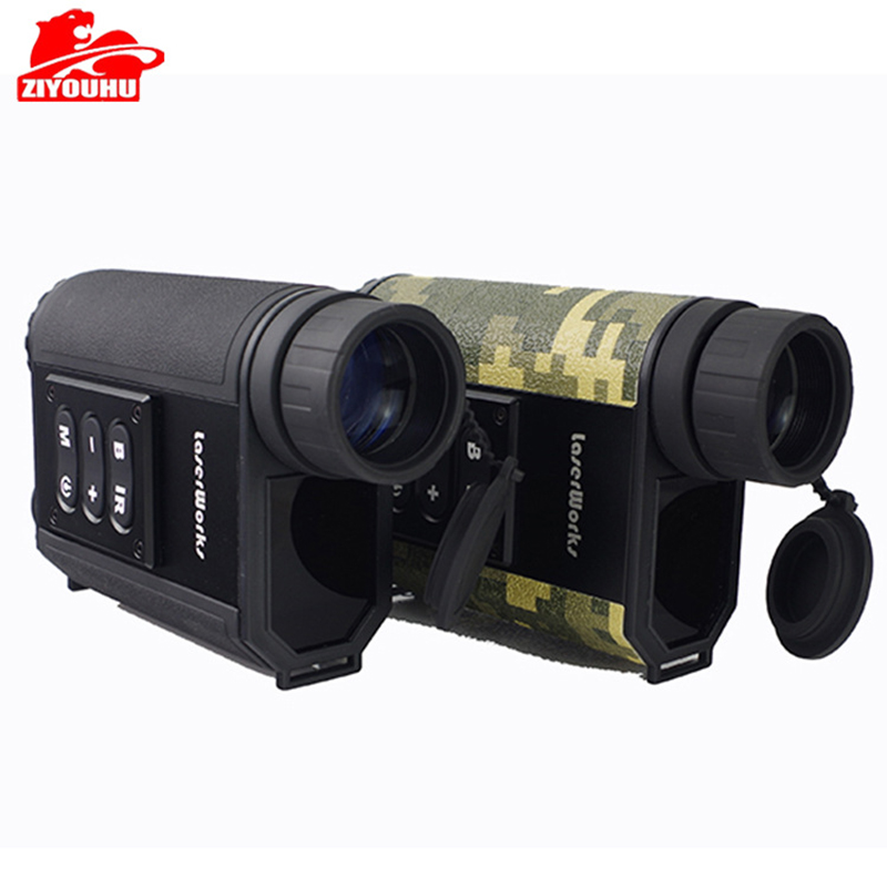 New 500m Range Laser Range Finder 200m Night Vision Device Optical 6X Magnification Fog Mode Available Ranging Tool for Outdoor