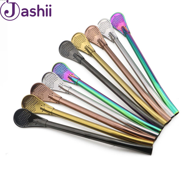 6pcs set straws gourd strainer eeasy to use cocktail shaker drinking
