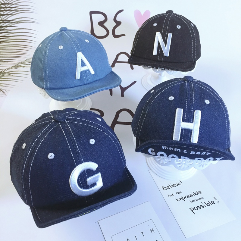 Boys Girls Children Hip Hop Caps Hats Child Adjustable Sun Protection Fashion Letter Print Holiday Travel Headwear 1-3t Buy One Give One