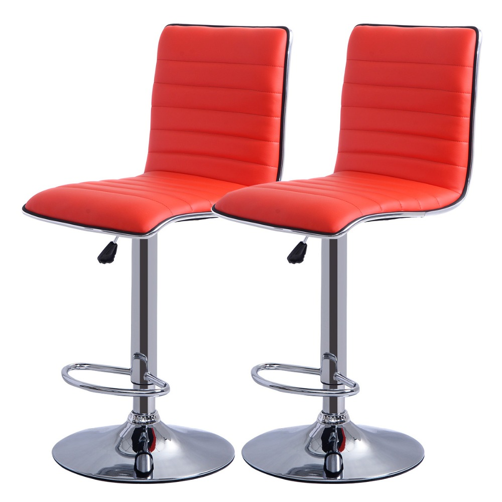 2 PC High quality Swivel Office Furniture Computer Desk Office Chair in PU Leather Chair bar stool New  HW50134-2RE 240311 high quality pu leather computer chair stereo thicker cushion household office chair steel handrails
