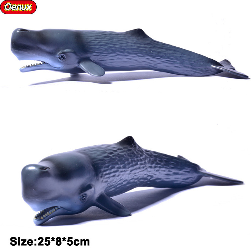 Oenux Ocean Animal Sea Life Action Figure Ocean World Shark Whale High Quality PVC Model Educational Toy For Kids Birthday Gift sea life liopleurodon dinosaur toy soft pvc action figure hand painted animal model collection classic toys for children gift