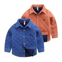 Boy children ling qiu dong cotton shirt, 2016 new children's clothing baby corduroy jacket England shirt