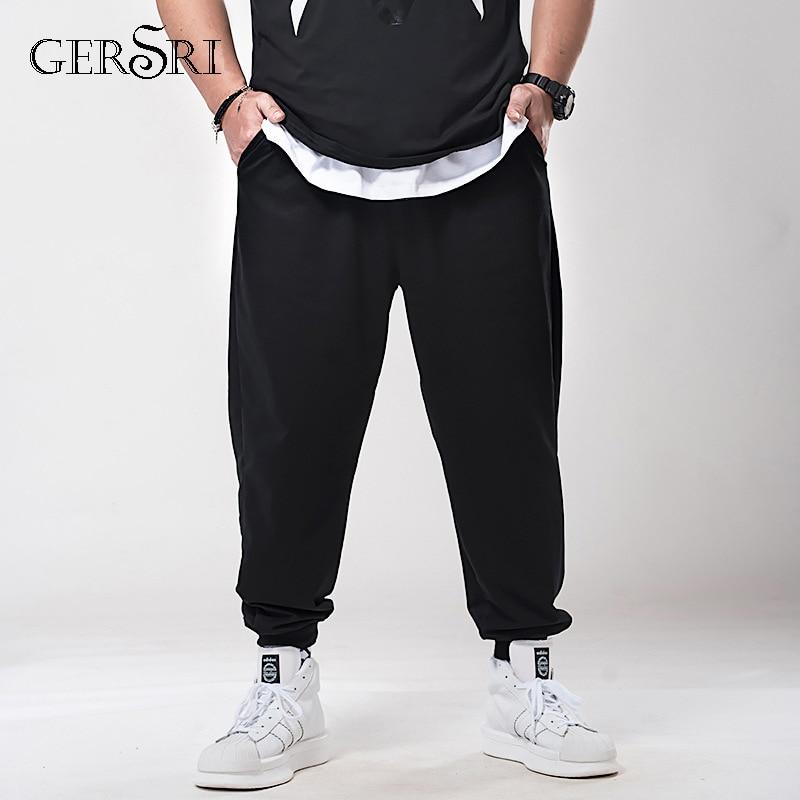 Gersri Männer Plus Größe Hosen Lose Elastische Hosen Männlichen Baumwolle Jogginghose Casual Hosen Hosen Große Big Plus Größe 5xl 6xl 7xl