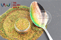 TCR404 Iridescent Red Gold With Green Luster Color Hexagon Shape 0 4MM Size Glitter For Nail