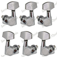 A Set Of 6 Pcs Chrome Guitar Tuning Peg Key Tuner Machine Heads For Acoustic Electric