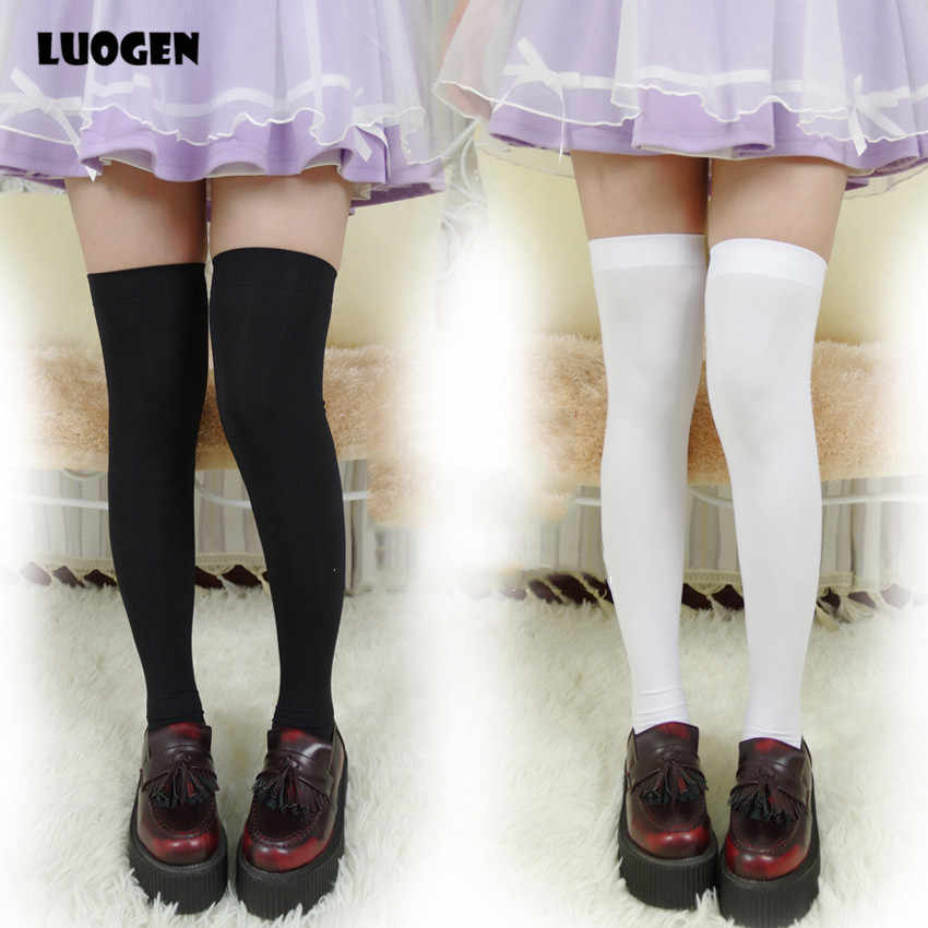 Sexy & Cute Women Over Knee Thigh High Velvet Stocking Japan JK Uniform School Lolita Girl Over Knee Long Stocking