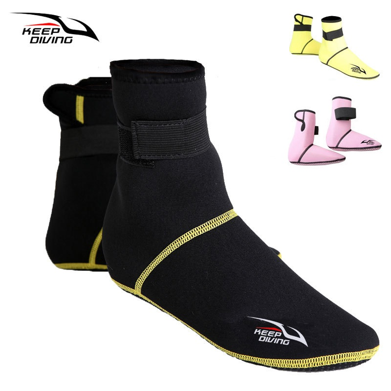 1 Pair 3MM Neoprene Snorkeling Diving Shoes Quick Dry Scuba Beach Boots Wetsuit Swimware Anti Scratches Swimming Diving Socks