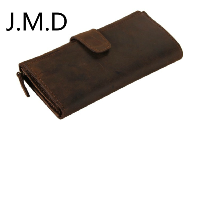 J.M.D 2019 New Arrival 100% Real Cow Leather Wallet Card Bit Multi Clutch Wallet 21 Bit Card Clutch Bag 8052(China)