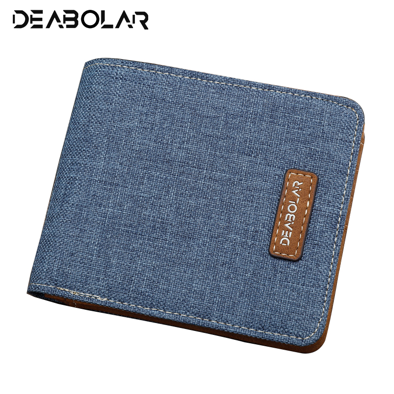 DUDU Men Leather Wallet Small Compact Bifold with Credit Card Holder and Coin Pocket Purse Blue