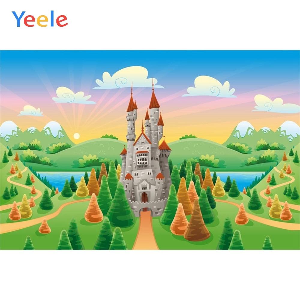 Yeele Vinyl Cartoon Castle Forest Children Birthday Party Photography Background Baby Child Photographic Backdrop Photo Studio