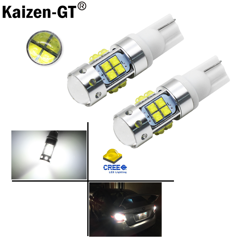 (2) Xenon White 20-SMD 906 912 920 921 W16W T10 LED Bulbs For Car Backup Reverse Lights Replacement 2 x error free super bright white led bulbs for backup reverse light 921 912 t15 w16w for peugeot 408